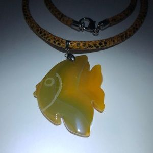 Stone fish necklace